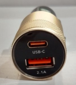 Carregador Veicular Turbo USB + USB Tipo C X-Cell XC-V14USB 4.8A Quick Charge 4.0