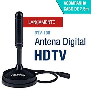 Antena Digital Interna e Externa  Aquário DTV-100 2,5 metros cabo