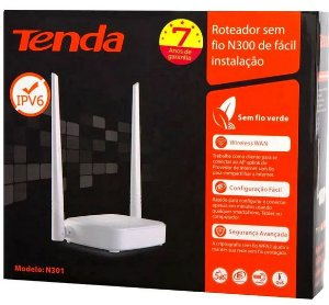 Roteador wireless wifi tenda n301 2 antena