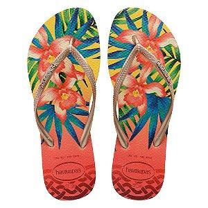 Havaianas Slim Tropical - Amarelo Claro