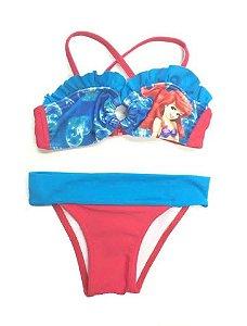 Biquíni Infantil Tip Top - Princesas (Ariel)