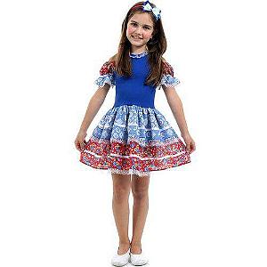 Fantasia de Festa Junina infantil vestido caipira