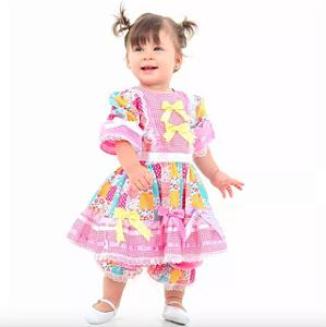 Vestido de festa junina Bebê