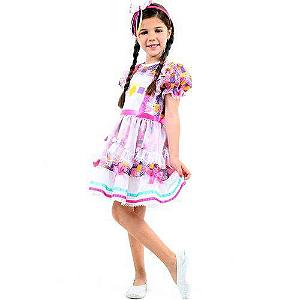 Vestido Infantil caipira mariazinha com tiara