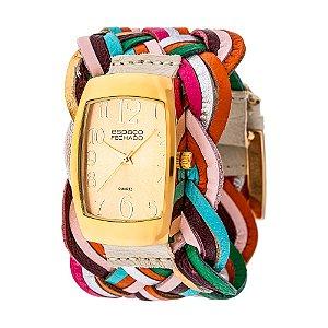 Relógio EF Bracelete Tranças, Feminino.