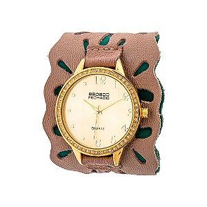 Relógio EF Bracelete Vazado Nude, Feminino.