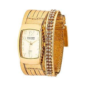 Relógio EF Bracelete 7 Tiras com Pérolas, Feminino.