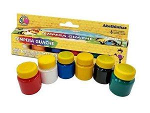 Tinta Guache 6 cores - Acrilex