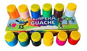 Tinta Guache 12 cores - Acrilex