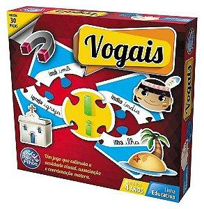 Brinquedo Educativo Vogais 30 peças - Pais&Filhos