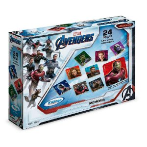 Jogo da Memória Avengers 24 peças - Xalingo
