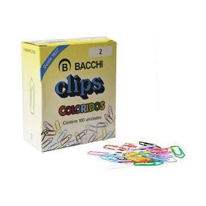 Clips Colorido c/100 - Bacchi