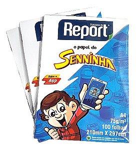 Papel Sulfite Senninha A4 75g c/100 folhas - Report