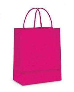 Sacola Papel Pink 21x15x8mm c/10 - Cromus