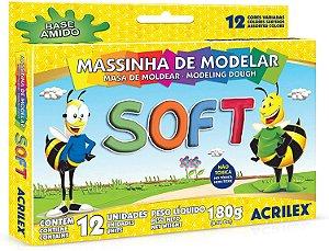 Massa de Modelar Soft 12 cores - Acrilex