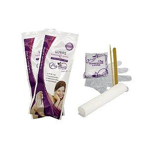 kit pedicure botas c/ emoliente e lixa e palito descartável higibeauty 20g
