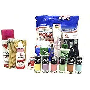 Material para manicure com alicate mundial e coleção de esmalte Anita ref m 01
