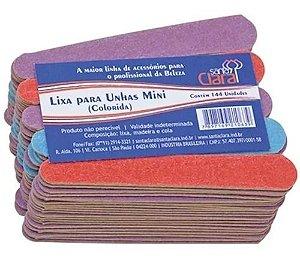 Mini lixa de unha popular Santa Clara colorida 8cm com 100 un