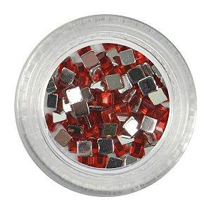 Strass para unhas decorativa Vermelho Santa Clara
