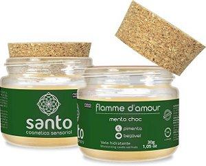 FLAMME D'AMOUR - VELA AROMÁTICA DE MENTA CHOC - SANTO COSMÉTICOS