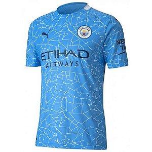Camisa de Time Manchester City I Azul Masculina