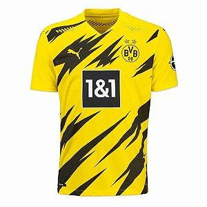 Camisa de Time Borussia Dortmund I Amarela Masculina