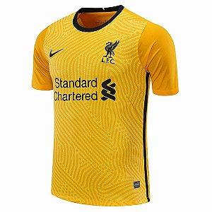 Camisa de Time Liverpool Goleiro I Amarela Masculina