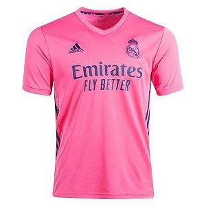 Camisa de Time Real Madri Away Rosa Masculina