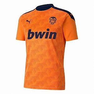 Camisa de Time Valencia II Laranja Masculina