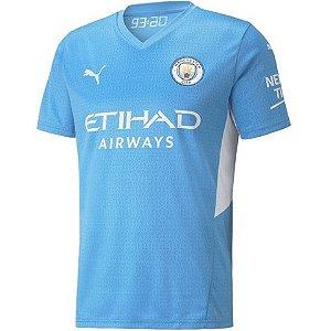 Camisa de Time Manchester City I Azul Masculina 2022