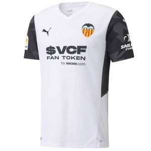 Camisa de Time Valencia I Branca Masculina 2022