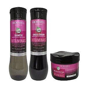Kit Vitaminas Hidratação Capilar Hidrabell