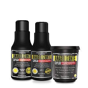 Kit Fortificante Capilar - Shampoo 300 ml  + Condicionador 300 ml  + Máscara 250g NatuMaxx
