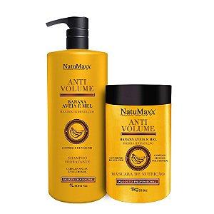 Kit AntiVolume - Shampoo 1 lt + Máscara 1 kg NatuMaxx