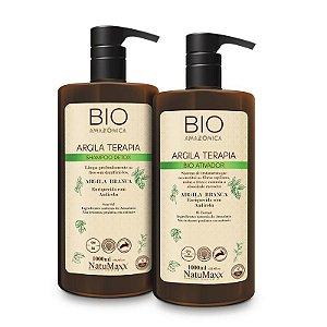 Escova Bio Amazônica – Shampoo Detox 1L + Bio Ativador 1 NatuMaxx