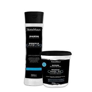Kit Carbono - Shampoo 300ml + Máscara 250g NatuMaxx