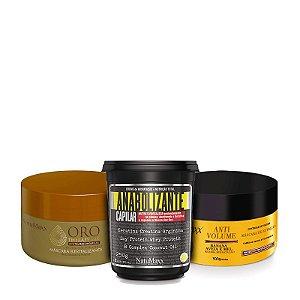 Cronograma - AntiVolume 300g + Fortificante 300g + Oro Therapy 300g NatuMaxx