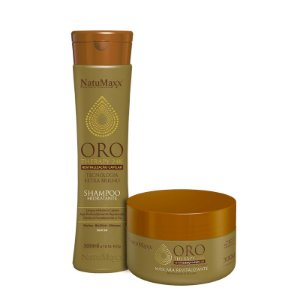 Kit Oro Therapy - Shampoo 300ml + Máscara 300g NatuMaxx
