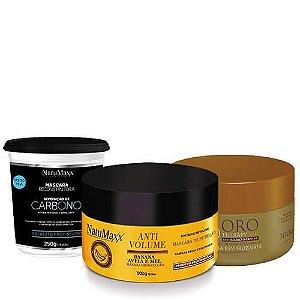 Cronograma - AntiVolume 300g + Oro Therapy 300g + Carbono 300g  NatuMaxx