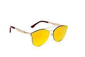 Óculos de sol Ohtica  espelhado YC3221 - Dourado