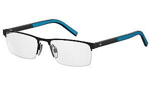 Óculos de grau Tommy Hilfiger TH 1594 0VK 5517 - Preto/Azul