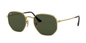 Óculos de sol Ray Ban Hexogonal 0RB3548NL 001 54 Dourado