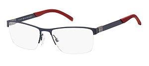 Oculos de grau Tommy Hilfiger TH1781 FLL 5517-Azul-Vermelho
