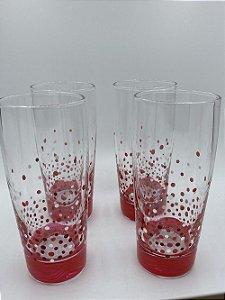Conjunto de 6 copos pintura artesanal-Bolinhas