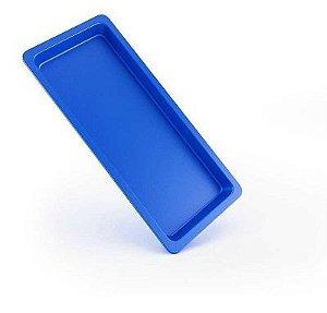 Bandeja Autoclavável Maquira 22x12x1,5 Azul