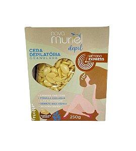 Cera Depilatória Granulada Chocolate Branco Muriel 250g