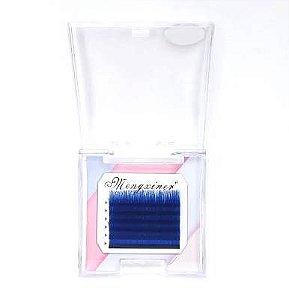 Cílios Mengxiner Fio a Fio D 0.07 14mm Azul