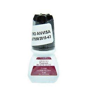 Cola Super Ultra p/ alongamento de cílios Black 5ml