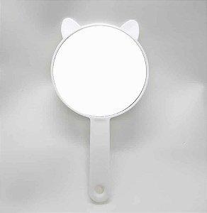 Espelho De Mão Redondo Gatinho Branco