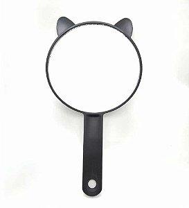 Espelho De Mão Redondo Gatinho Preto